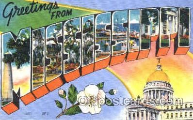 LLS001111 - Large Letter State Postcard Postcards Mississippi