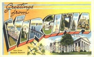 LLS001132 - Large Letter State Postcard Postcards Virginia