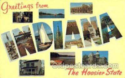 LLS001195 - Large Letter States, Greetings From Indiana Postcard Postcards