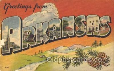 LLS001274 - Arkansas, USA Large Letter State States Postcard Postcards