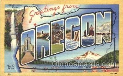 LLS001286 - Oregon, USA Large Letter State States Postcard Postcards