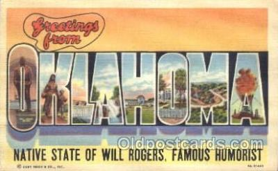 LLS001287 - Oklahoma, USA Large Letter State States Postcard Postcards