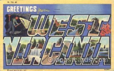 LLS001294 - West Virginia, USA Large Letter State States Postcard Postcards