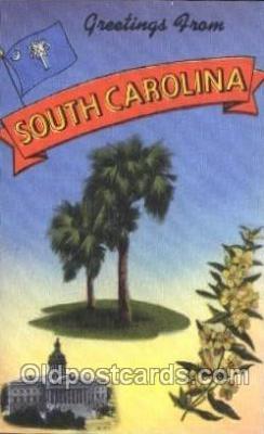LLS001328 - South Carolina, USA Large Letter State States Postcard Postcards
