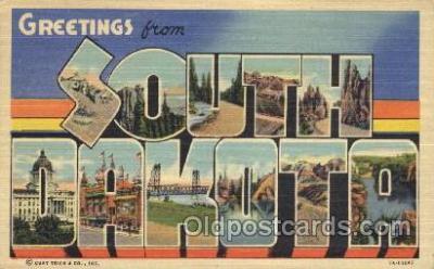LLS001331 - South Dakota, USA Large Letter State States Postcard Postcards