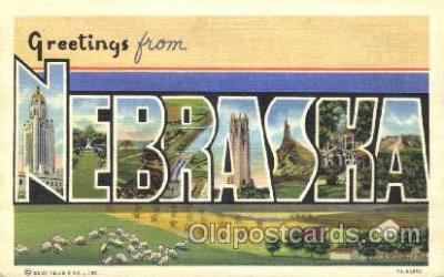 LLS001344 - Nebraska, USA Large Letter State States Postcard Postcards