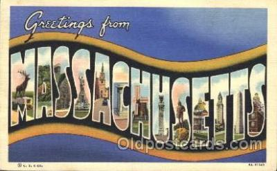 LLS001351 - Massachusetts, USA Large Letter State States Postcard Postcards
