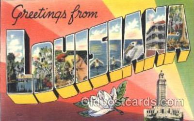 LLS001355 - Louisiana, USA Large Letter State States Postcard Postcards