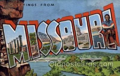 LLS001427 - Missouri Large Letter State States Post Cards Postcards