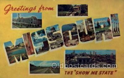 LLS001469 - Missouri Large Letter State States Post Cards Postcards