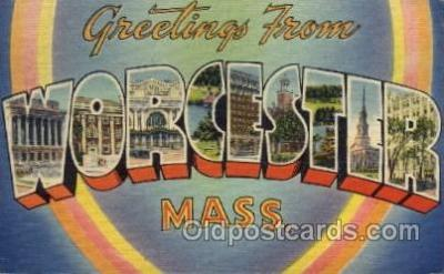 LLS001490 - Worcester, Massachusetts Large Letter State States Post Cards Postcards