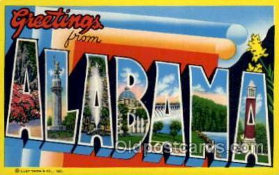 LLS001492 - Alabama Large Letter State States Post Cards Postcards
