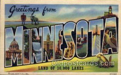 LLS001516 - Minnesota Large Letter State States Post Cards Postcards