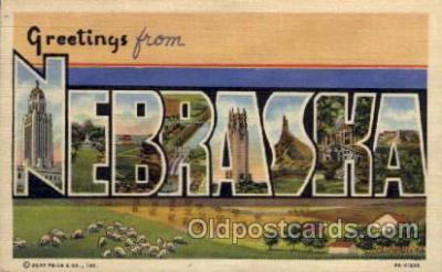 LLS001525 - Nebraska Large Letter State States Post Cards Postcards