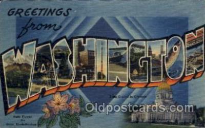 LLS001559 - Washington Large Letter State States Post Cards Postcards