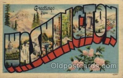 LLS001562 - Washington Large Letter State States Post Cards Postcards