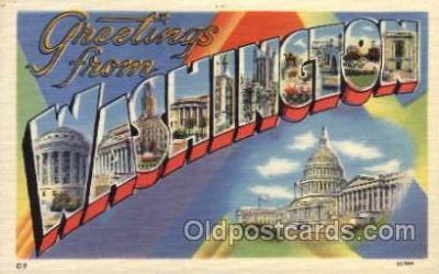 LLS001642 - Washington Large Letter State States Post Cards Postcards