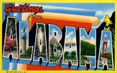 LLS001683 - Alabama Large Letter State States Post Cards Postcards