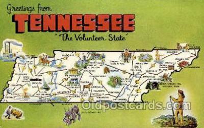 LLS001861 - Tennessee USA Large Letter States, Old Vintage Antique Postcard Post Cards