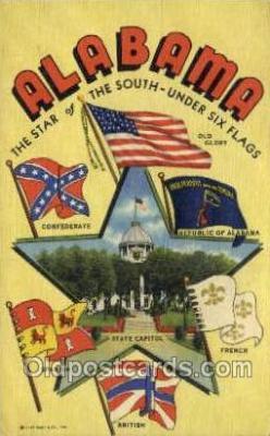 LLS001893 - Alabama USA Large Letter States, Old Vintage Antique Postcard Post Cards