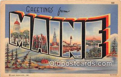 LLS100029 - Maine, USA Postcard Post Cards