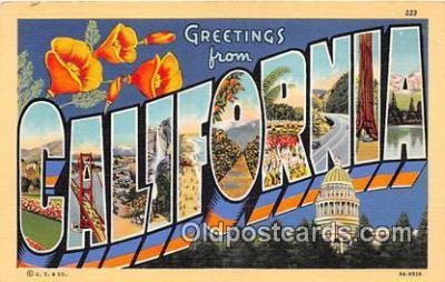 LLS100031 - California, USA Postcard Post Cards