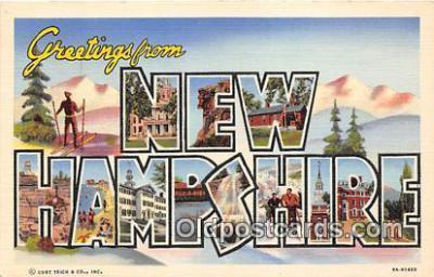 LLS100175 - Linen New Hampshire, USA Postcard Post Cards