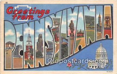 LLS100188 - Linen Pennsylvania, USA Postcard Post Cards