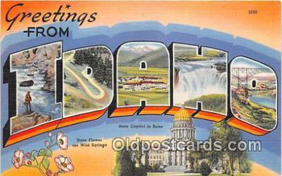 LLS100193 - Linen Idaho, USA Postcard Post Cards