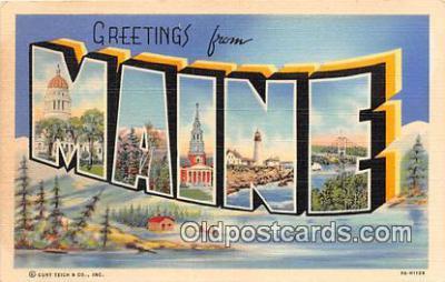 LLS100199 - Linen Maine, USA Postcard Post Cards