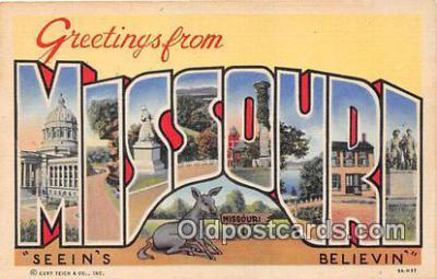 LLS100210 - Linen Missouri, USA Postcard Post Cards