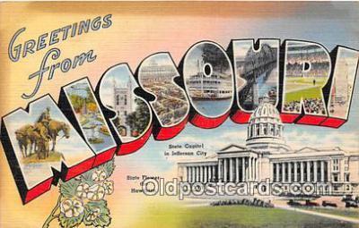LLS100211 - Linen Missouri, USA Postcard Post Cards