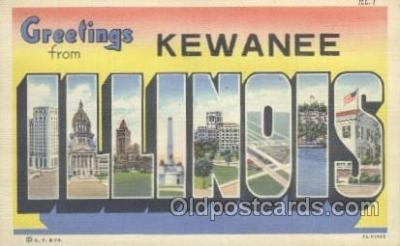 LLT001064 - Kewanee, Illinois, USA Large Letter Town Postcard Postcards