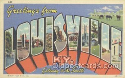 LLT001074 - Louisville, KY USA Large Letter Town Postcard Postcards