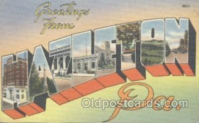 LLT001078 - Hazelton, PA USA Large Letter Town Postcard Postcards
