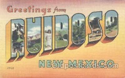 LLT001100 - Ruidoso, New Mexico Large Letter Town Postcard Postcards