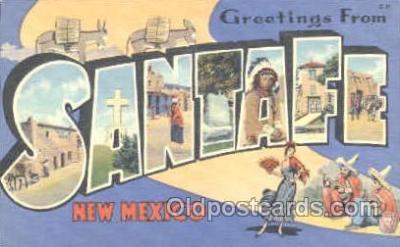 LLT001104 - Santafe, New Mexico, USA Large Letter Town Postcard Postcards