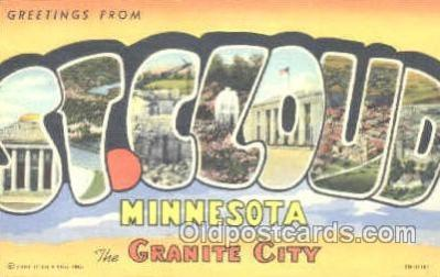 LLT001124 - St. Cloud, Minnesota, USA Large Letter Town Postcard Postcards