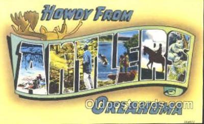 LLT001133 - Antlers, Oklahoma, USA Large Letter Town Postcard Postcards