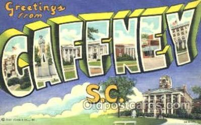 LLT001152 - Caffney, S.C. USA Large Letter Town Postcard Postcards
