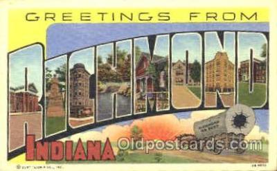 LLT001179 - Richmond, Indiana, USA Large Letter Town Postcard Postcards