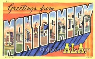 LLT001186 - Montgomery, ALA. USA Large Letter Town Postcard Postcards