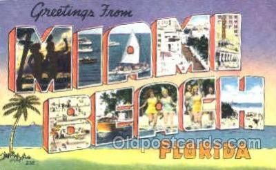 LLT001193 - Miami, Florida USA  Large Letter Town Postcard Postcards