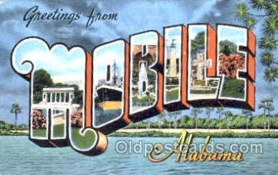 LLT001202 - Mobile Alabama, USA Large Letter Town Postcard Postcards