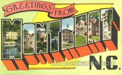 LLT001204 - Montreat, N.C. USA Large Letter Town Postcard Postcards