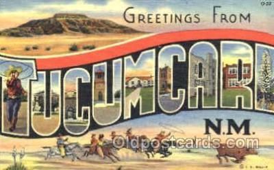 LLT001210 - Tucumcari, NM USA Large Letter Town Postcard Postcards