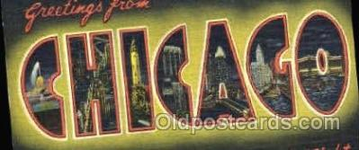 LLT001225 - Chicago, Ill USA Large Letter Town Postcard Postcards
