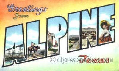 LLT001231 - Alpine, Texas, USA Large Letter Town Postcard Postcards
