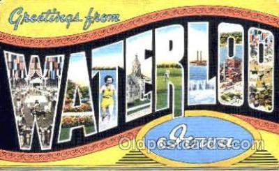 LLT001236 - Waterloo, Iowa, USA Large Letter Town Postcard Postcards