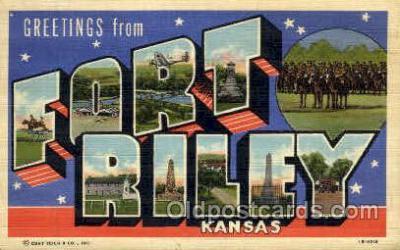 LLT001250 - Fort Riley, Kansas Large Letter Town Postcard Postcards